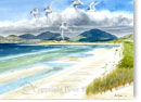 Luskentyre, Isle of Harris, prints from watercolour painting by Peter Thwaites