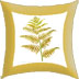 printed bracken cushion