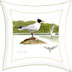 Black-headed Gulls printed cushion