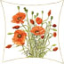 field poppy cushion