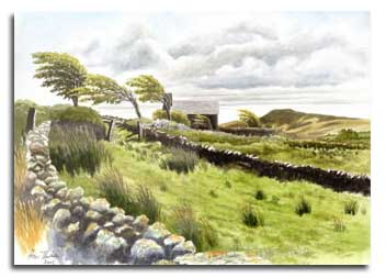 Garrow Tor, Bodmin Moor, prints from watercolour by Peter Thwaites
