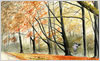 Autumn Jay, fine art print from watercolour painting by Peter Thwaites
