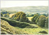 Hambledon Hill, fine art print from watercolour painting