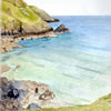 Gaider Cove, Cornish greeeting card by Peter Thwaites