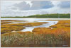 Beaulieu River, late afternoon, giclee print from watercolour painting by Peter Thwaites