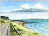 The Road to Lepe, giclee print from watercolour painting by Peter Thwaites