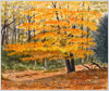 New Forest Beech, printed from watercolour painting by Peter Thwaites