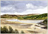 Kentra Bay, Ardnamurchan, giclee print from watercolour painting by Peter Thwaites