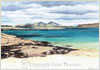 Sanna Bay, Ardnamurchan, giclee print from watercolour painting by Peter Thwaites