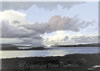 Evening Clouds over the Sound of Mull, acrylic on canvas by Peter Thwaites